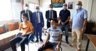 تلاميذ بنيابة مولاي رشيد يستفيدون من التلقيح ضمن القافلة الطبية
